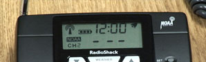 Photo of weather radio