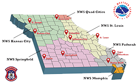 National Weather Service Coverage Areas Map